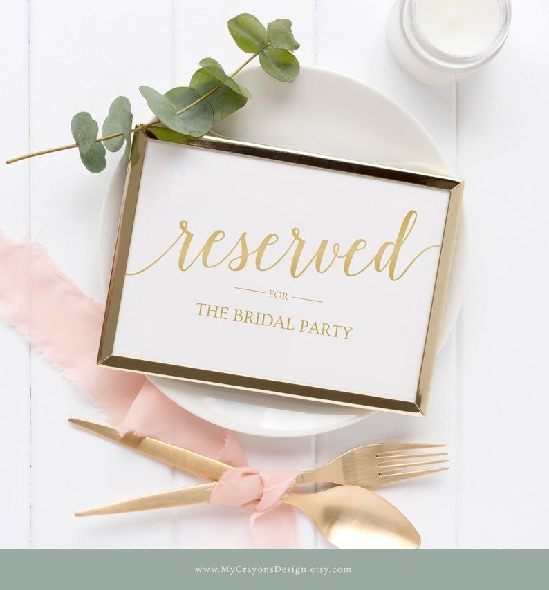 Reserved Table Sign Template / Reserved Sign Wedding