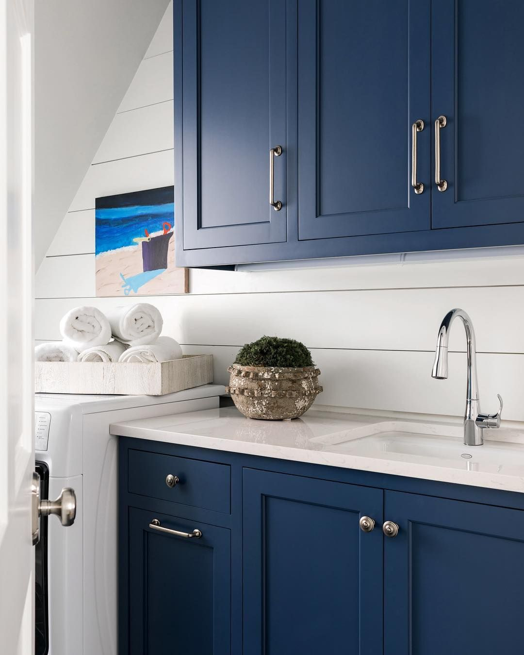 What Is Best Paint For Kitchen Cabinets: Sherwin Williams Indigo Via Sherry Hart.