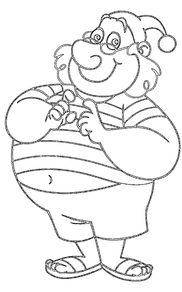 Coloring pages for peter pan - Smee Happy Coloring Pages For Kids Printable Peter Pan Coloring Pages For Kids