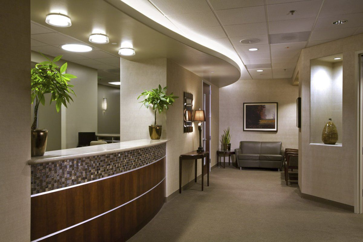 Medical surgery clinic receptionist interior furniture for Medical office interior design