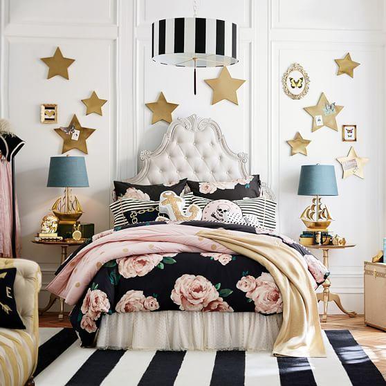 The Emily Meritt Bed Of Roses Duvet Cover Sham Black Blush Girl Bedroom Designs Girl Room Dream Rooms