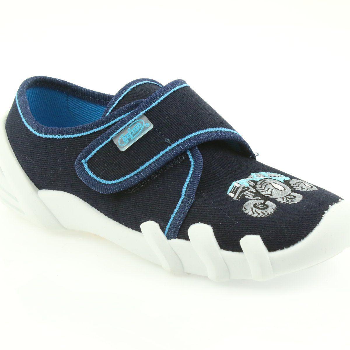 Befado Kapcie Buty Dzieciece Na Rzep 273x105 Niebieskie Granatowe Childrens Shoes Kid Shoes Childrens Slippers