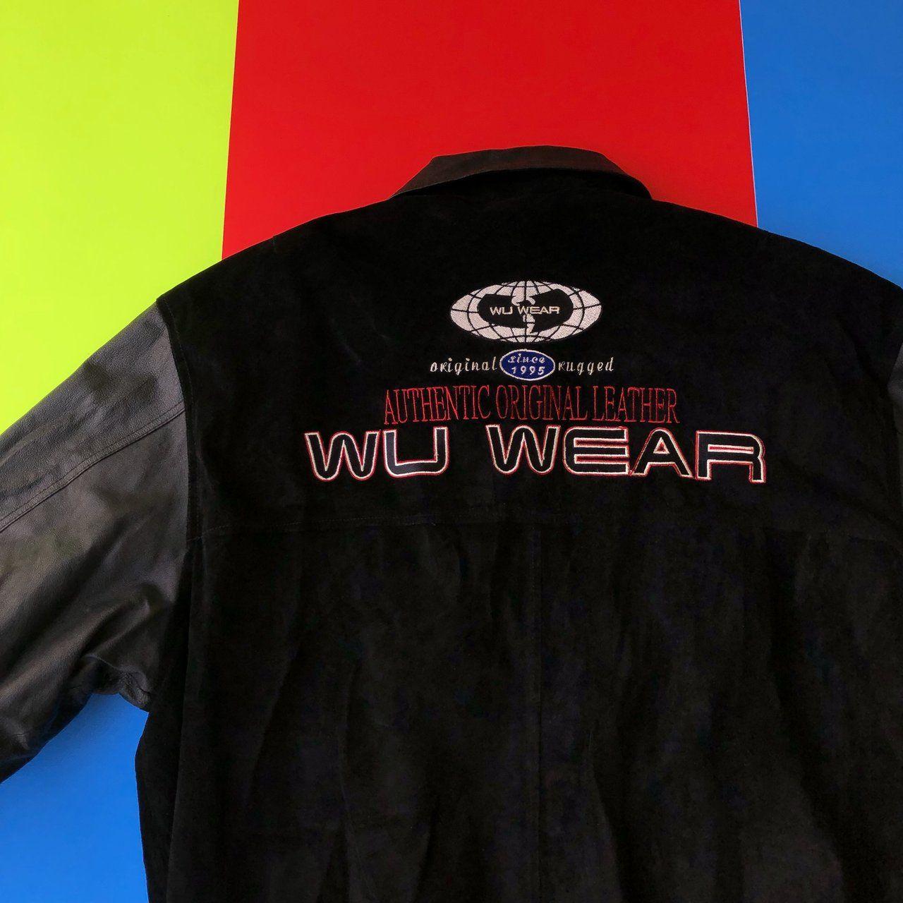 Rare 90s Vintage Wutang Clan Wu Wear Leather Jacket Men S Xl Women S Xxl Authentic Original Leather Sleeves Coll How To Wear Leather Jacket Vintage Outfits [ 1280 x 1280 Pixel ]