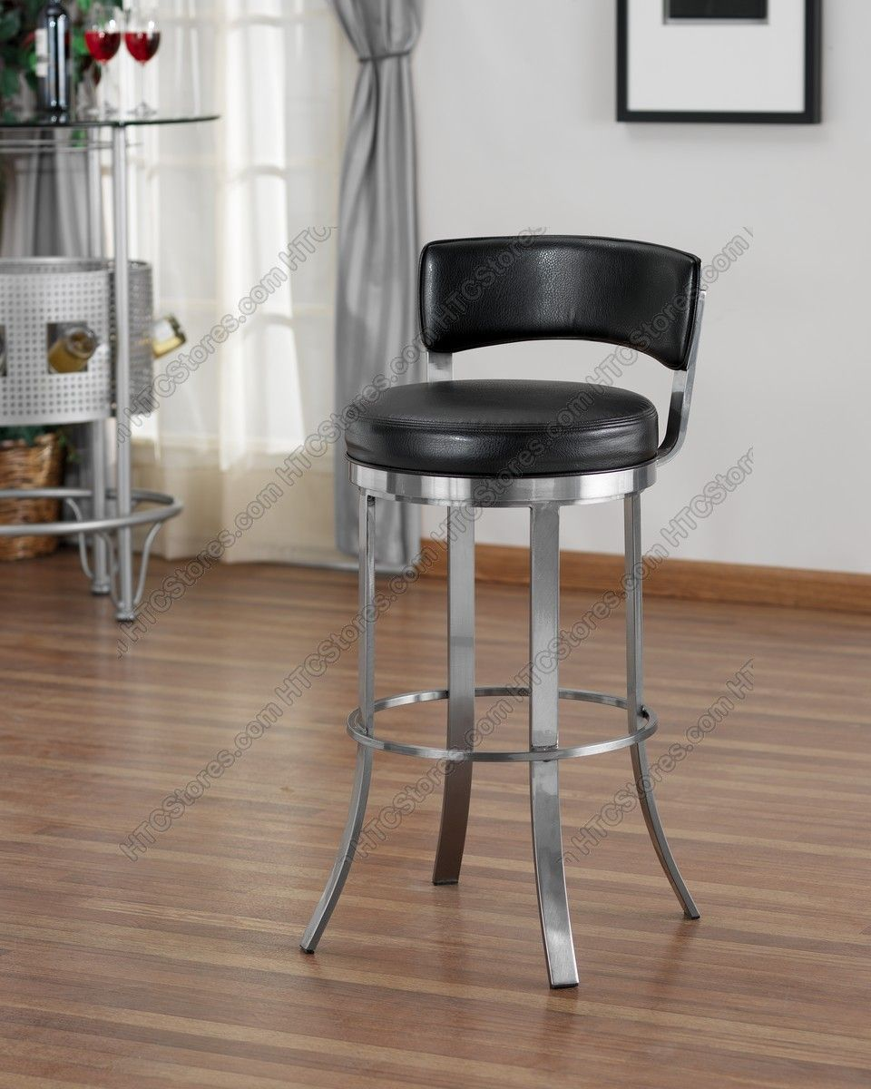 Tempo Industries Birkin Swivel Barstool Bar Stools Round Seat