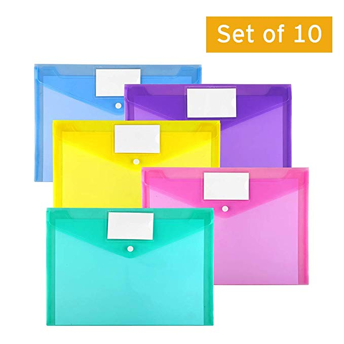 Plastic Envelopes Poly Envelopes 10 Pack Clear Document Folders US Letter A4
