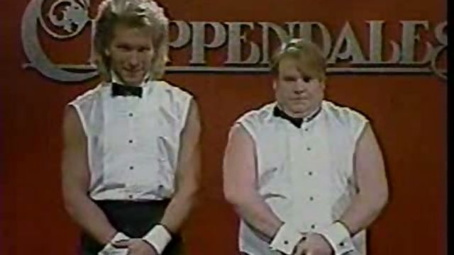 Chris Farley Patrick Swayze As Chippendales Most Hilarious Snl