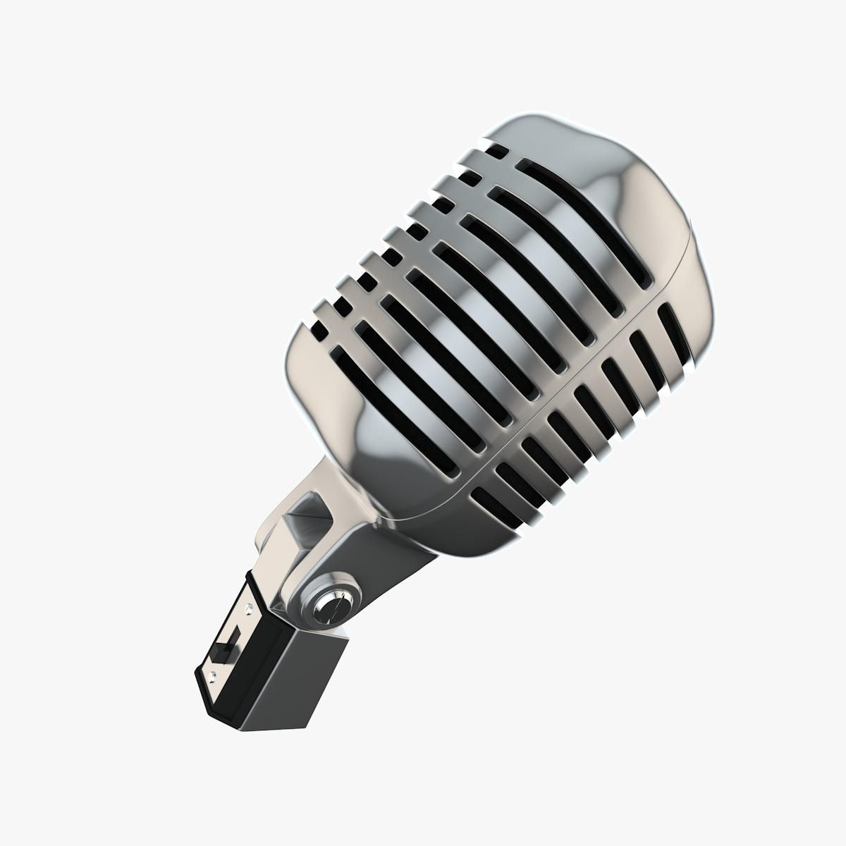 Classic Microphone 3d Model Ad Classic Microphone Model Graphic Design Tips Brochure Design Template 3d Model