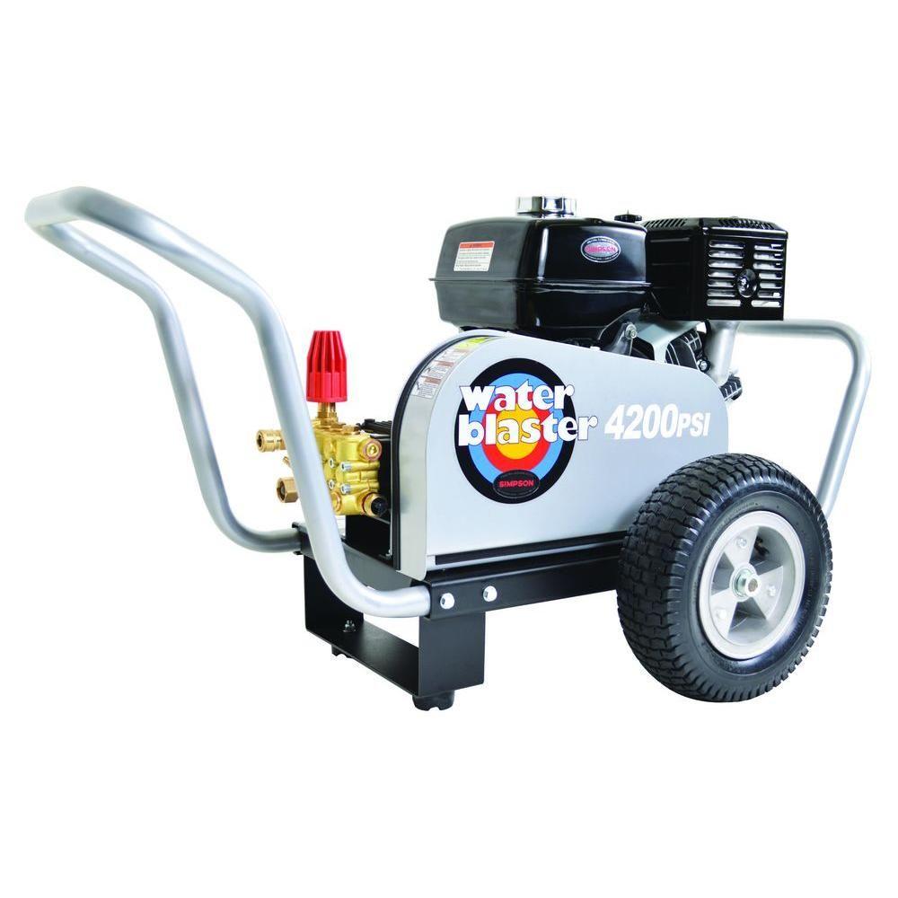 Simpson Water Blaster 4,200 psi 4 0 GPM Belt Drive Gas