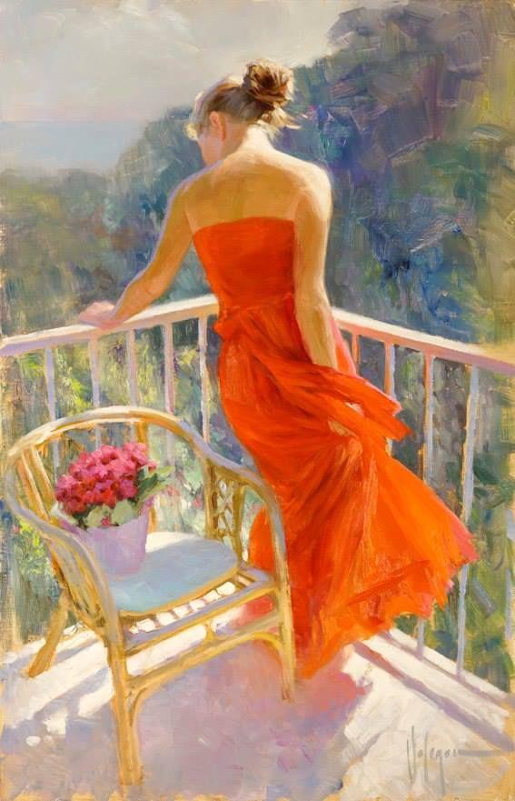 Balcony Flowers Painting