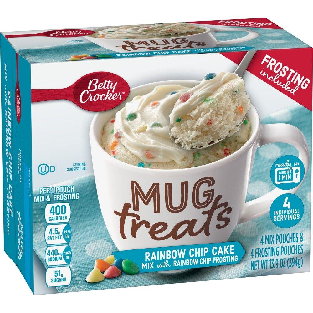 Betty crocker mug treats rainbow chip cake mix 4ct13