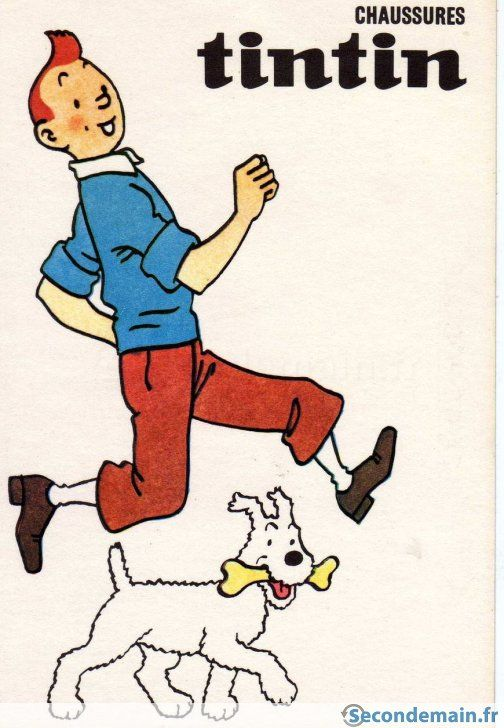 Carte postale tintin - A vendre à Toulon | Carte postale, Tintin, Carte