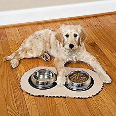 The Original Pet Bowl Mats In Taupe Pet Bowl Mats Pet Bowls Dog Mat
