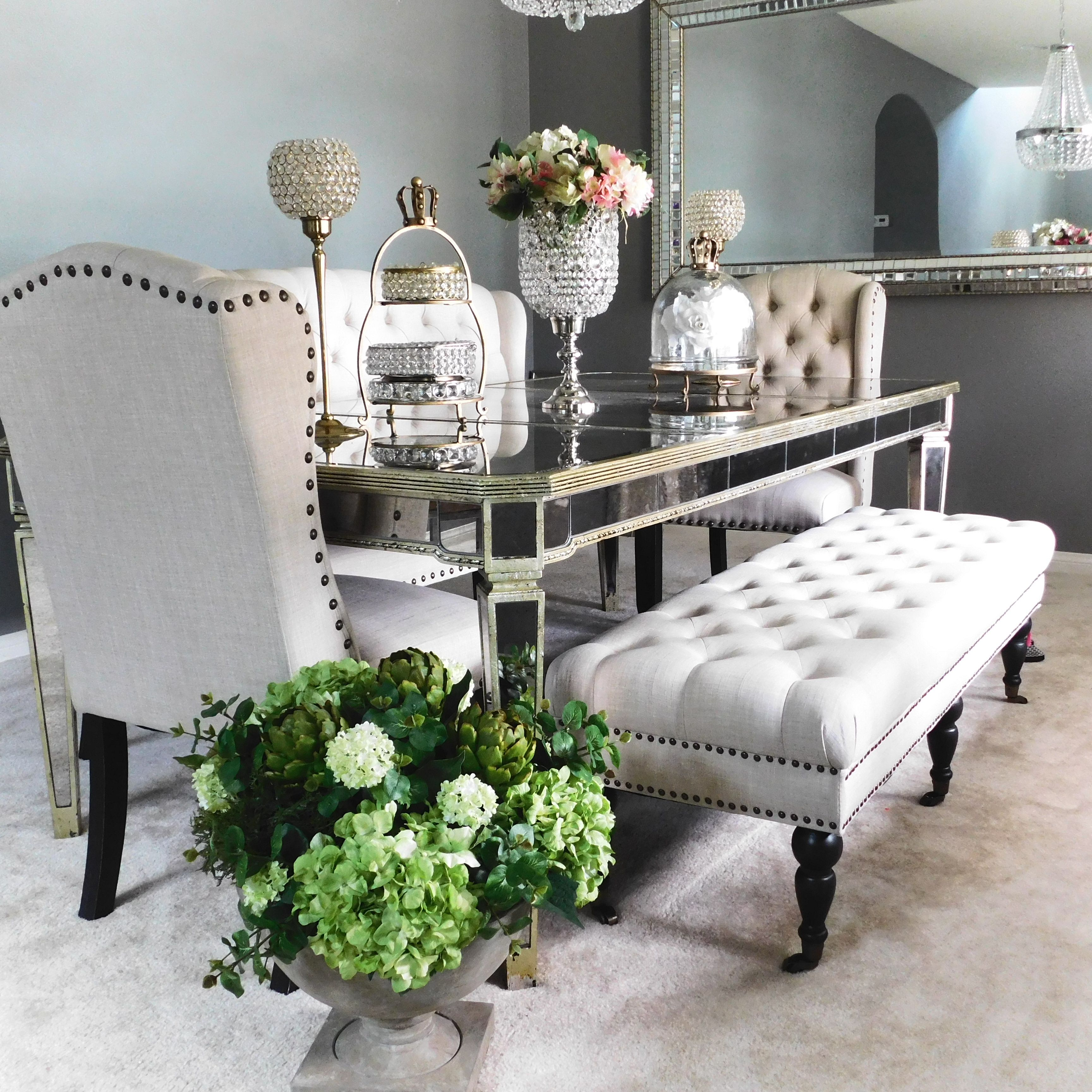 Monique Glamouru0027su0027 Zgallerie Inspired Formal Dining Room. Mixtures Of Silver,  Gold And Brushed