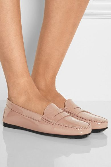1953a35726 Tod's - City Gommino patent-leather loafers | Bodacious Boots and ...