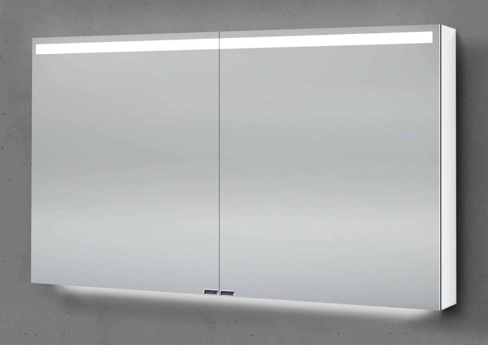 Spiegelschrank 120 Cm Integrierte Led Beleuchtung Doppelt