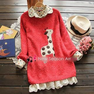 Buy 'YOYO � Lace-Panel Sweater' with Free International Shipping at YesStyle.com. Browse and shop for thousands of Asian fashion items from China and more!