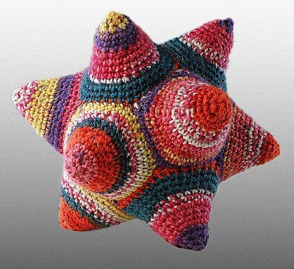 Math Monday: Knit or Crochet a Dodecahedron