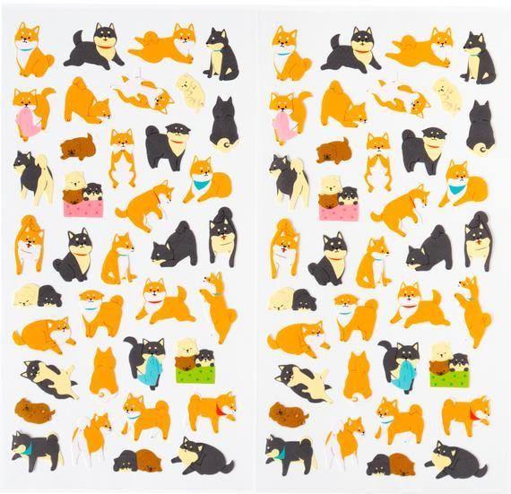 Photo of Shiba inu stickers, dogs sticker for planner,scrapbooking, journal, snail mail, 2 sheet