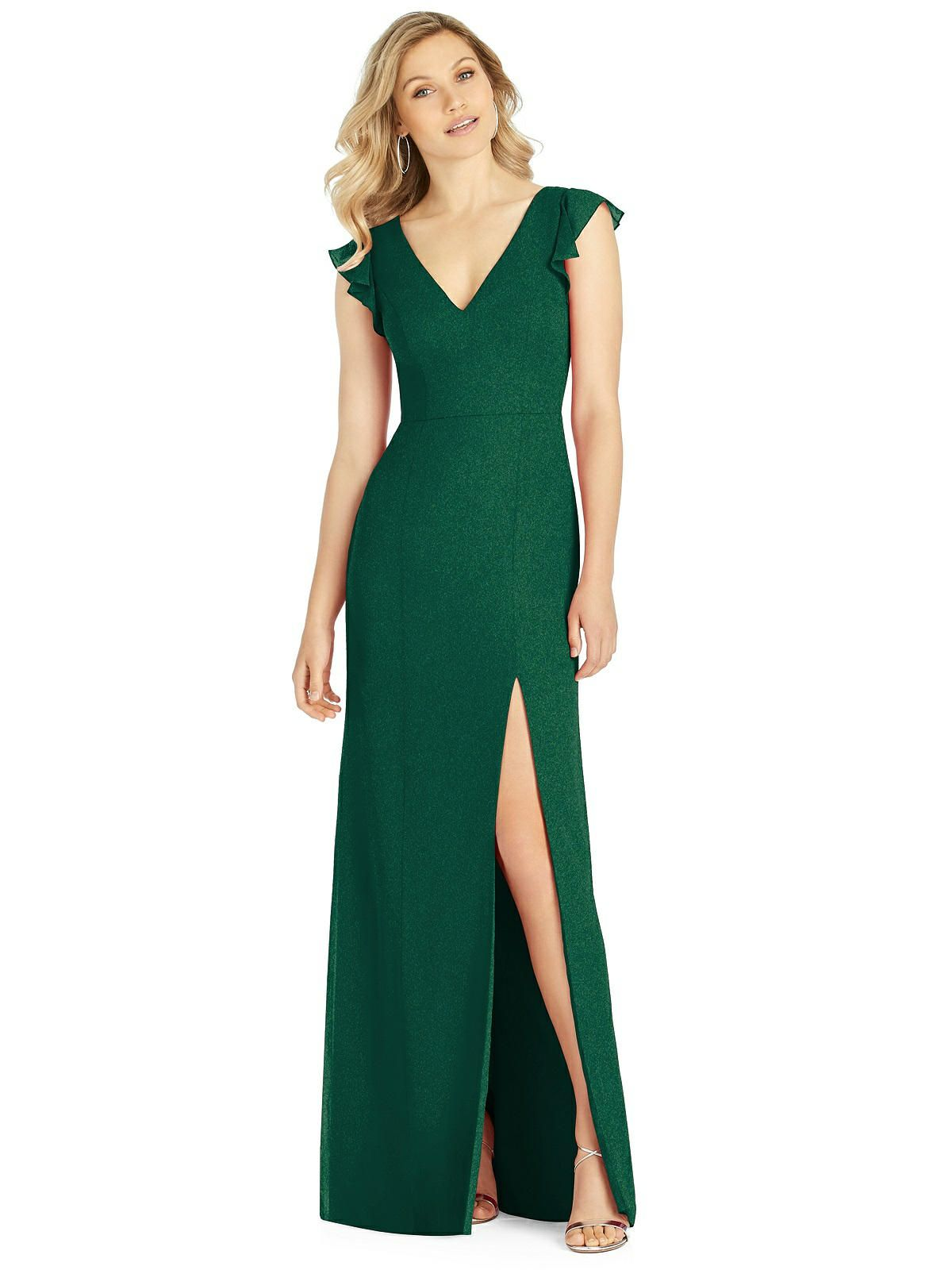 77c839b6c49 After Six Shimmer Bridesmaid Dress 6810LS in 2019