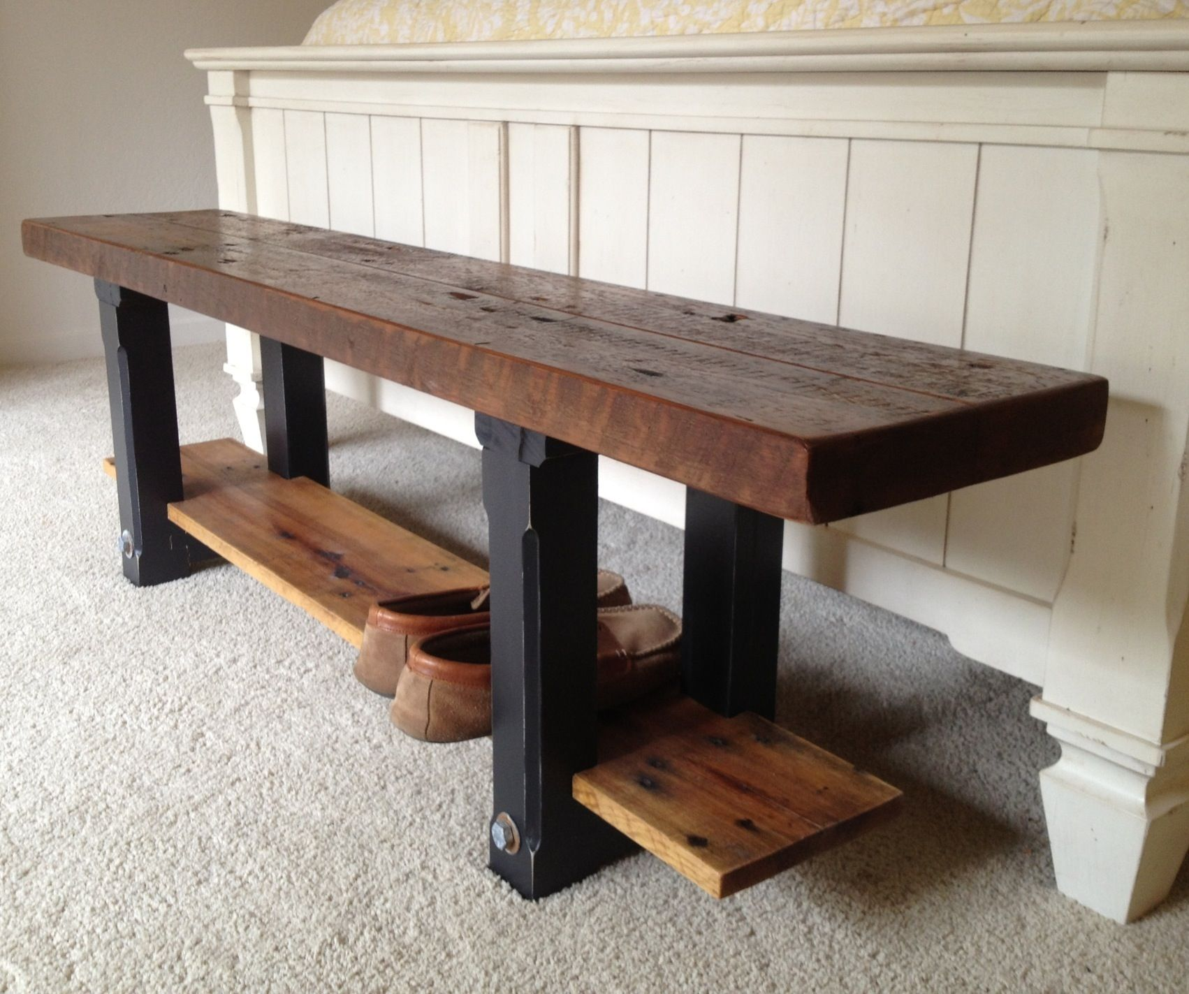 Images about old barn wood furniture on pinterest - 2 Layers Of Reclaimed Wood Minus The Ugly Legs