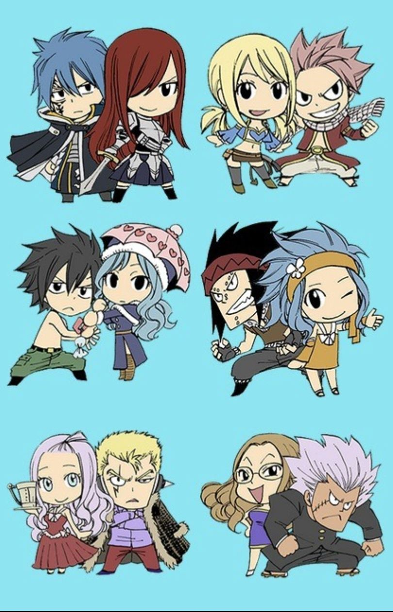 Les Couples De Fairy Tail : couples, fairy, Fairy, Tail