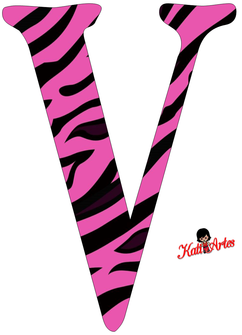 Pink Zebra Free Alphabet. Alfabeto Cebra Rosa. | alphabet ...