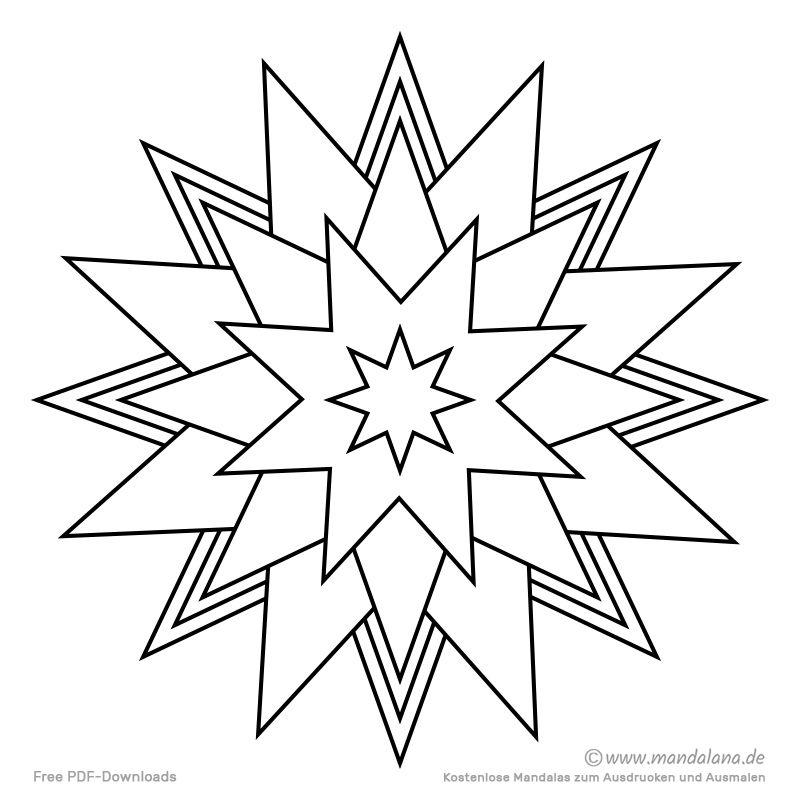 Einfache Mandala Vorlage Mit Herzen Und Sternen Mandala Zum Ausdrucken Mandalas Zum Ausmalen Mandala Malvorlagen