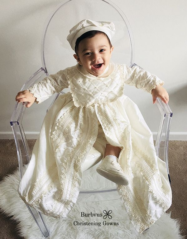 Baby Boy Christening Gown Burbvus, handmade with silk, sell on etsy ...