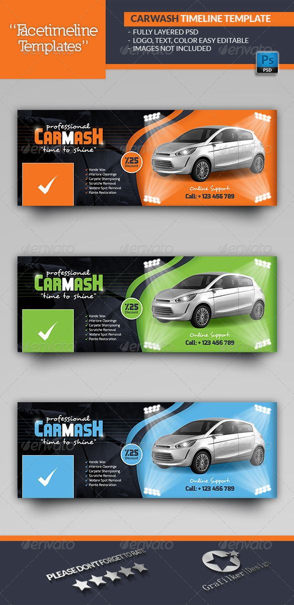 Car Wash Timeline Templates Photoshop Psd Professional Flyer Interior And Exterior Cleaning