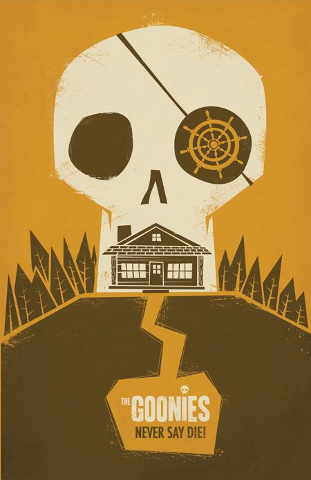 Goonies never die smll The 3G Art Show: Goonies, Gremlins and Ghostbusters