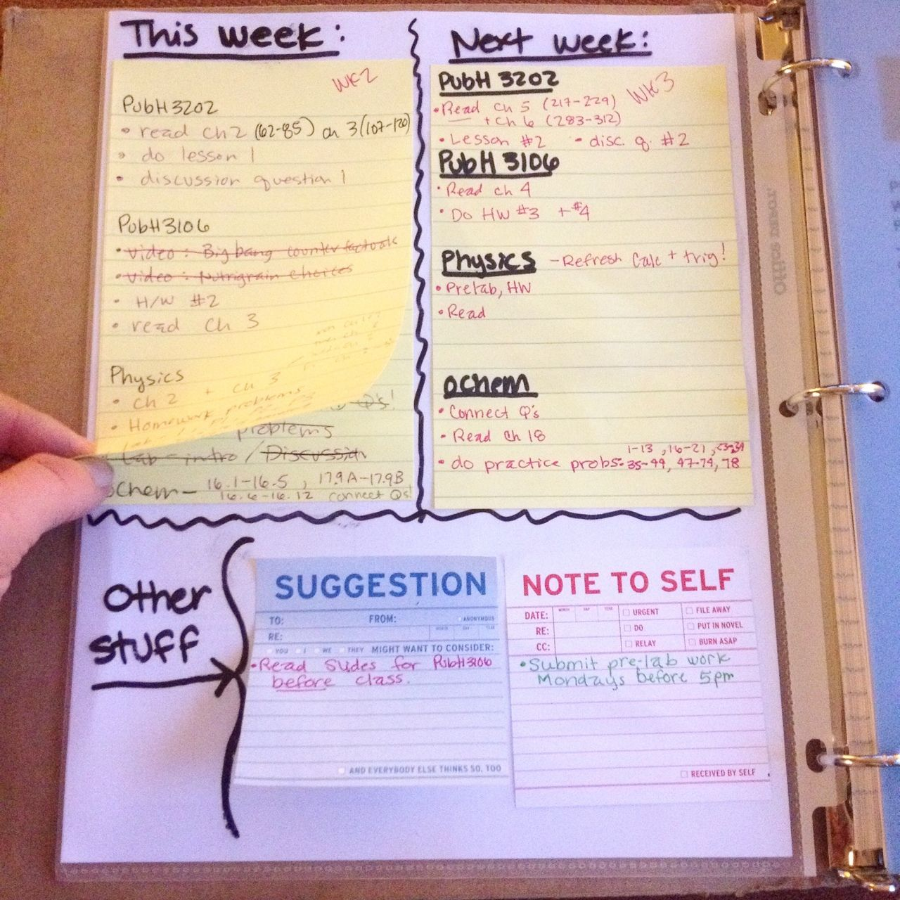The-professional-student: Thank Goodness For Post-its Of