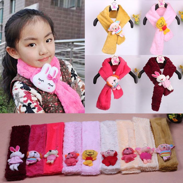 toddler girls scarves shopping | baby girl scarf winter soft plush cartoon scarves novelty kids candy ...