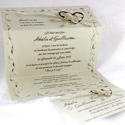 faire part mariage tandem 49470 selection romantique et. Black Bedroom Furniture Sets. Home Design Ideas