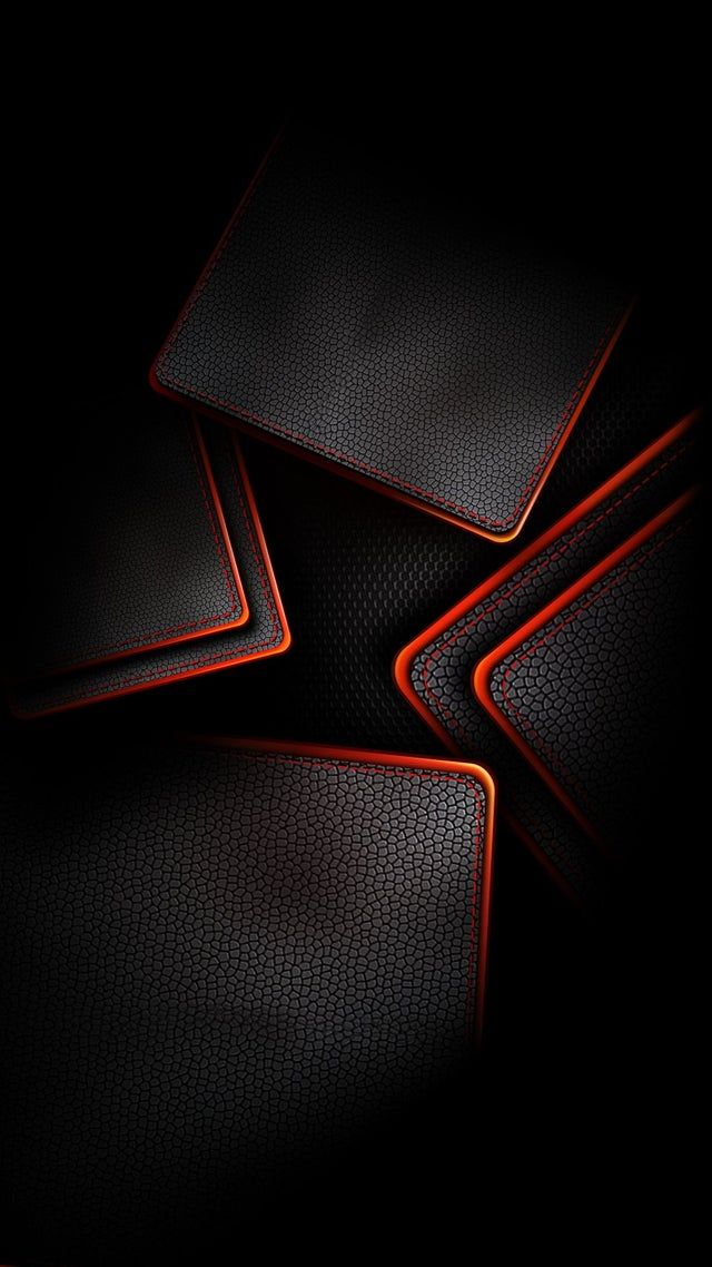 Black & Red leather