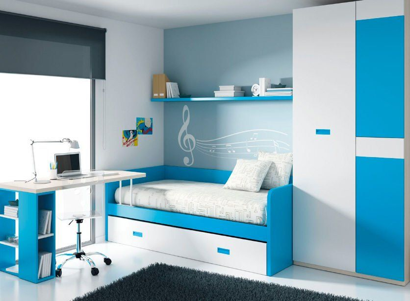 Pin de falco holzer en mueble javi pinterest - Habitaciones infantiles azules ...
