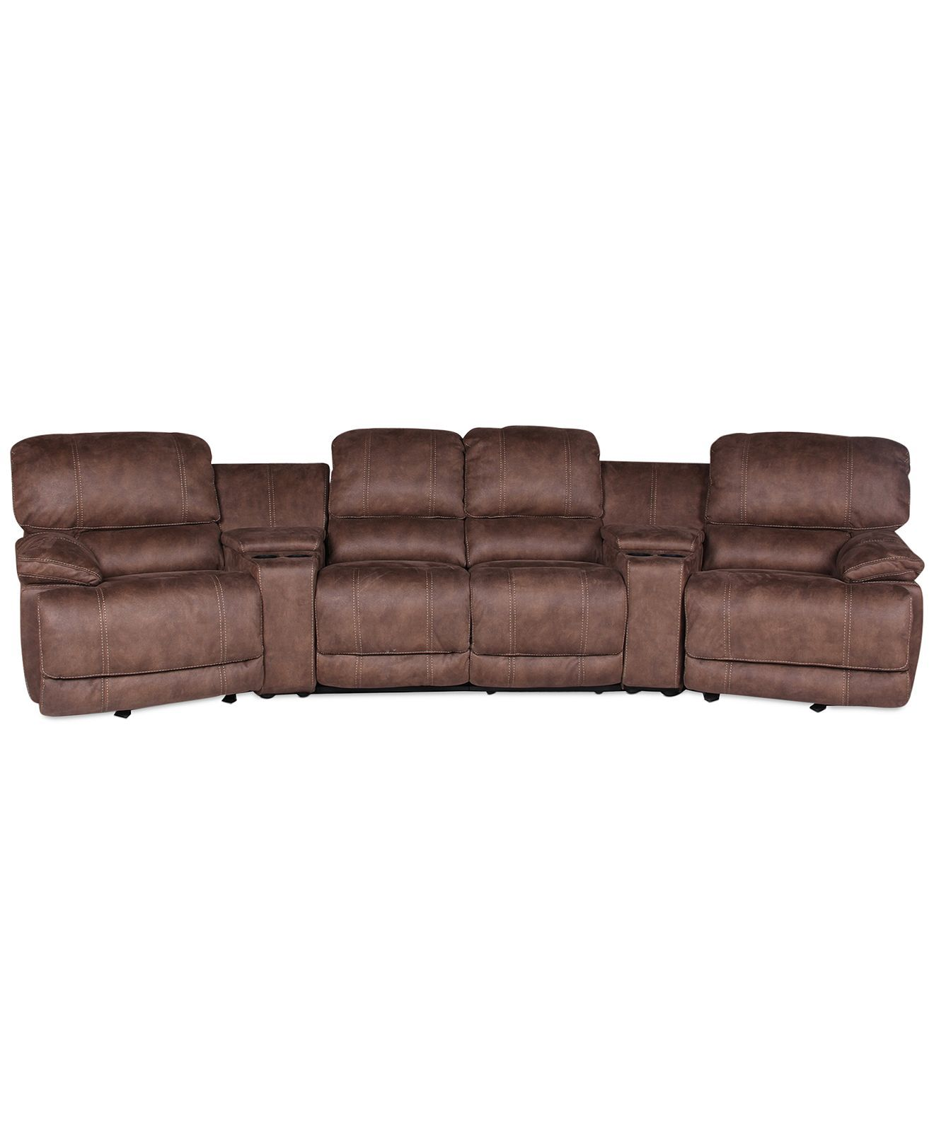 Jedd Fabric 6 Piece Home Theatre Sectional Sofa Sectional Sofas