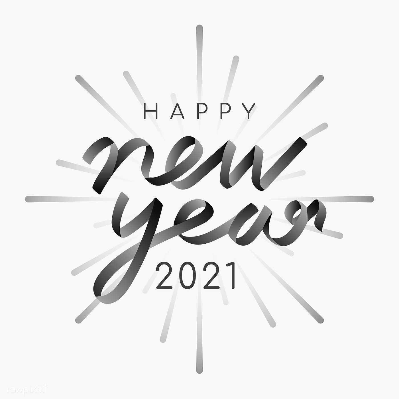 Happy New Year 2021 Transparent Png Free Image By Rawpixel Com Ningzk V Happy New Year Png New Year Card Design Happy New Year Letter