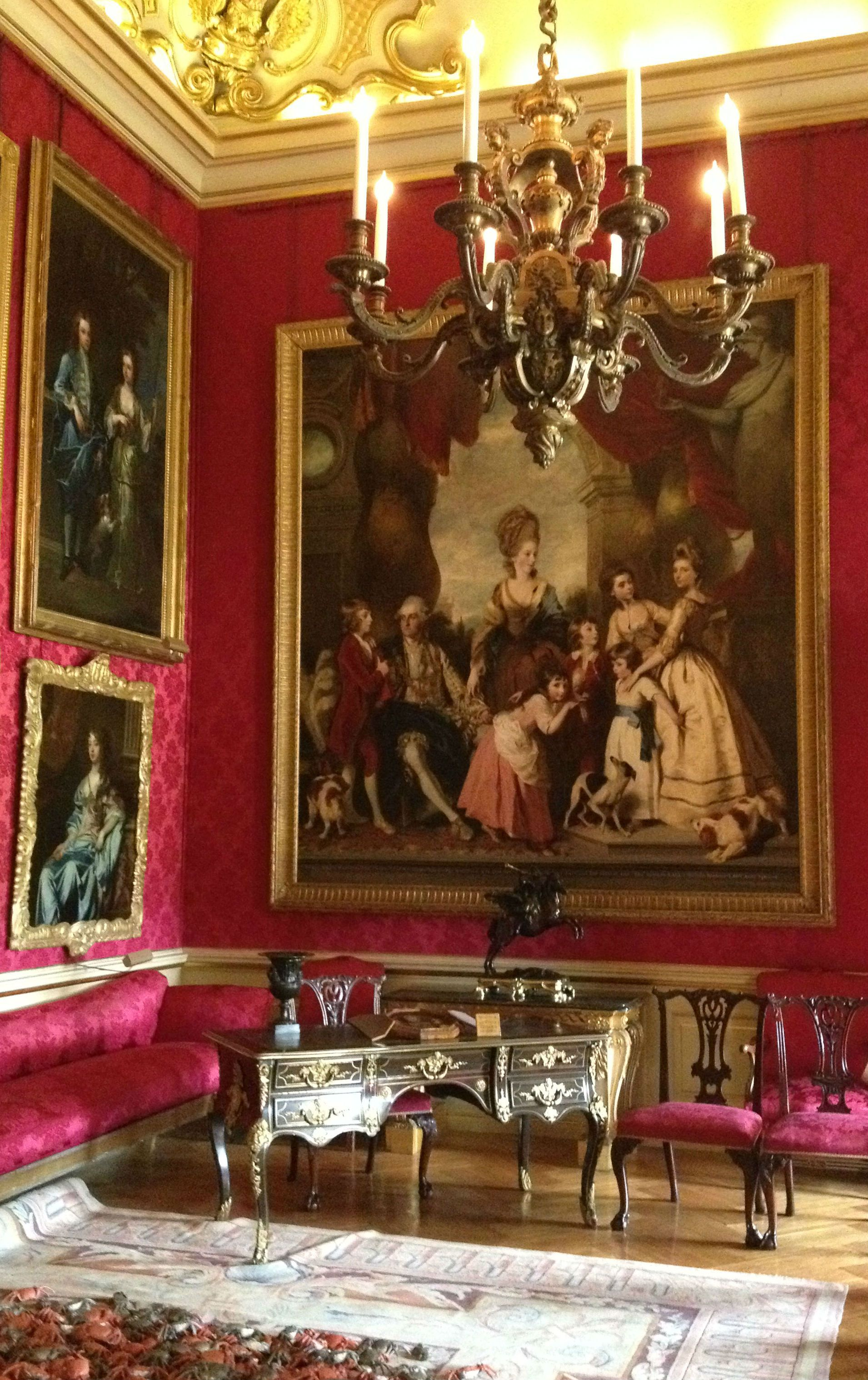 Red House Drawing: 4th Duke Of Marlborough With His Family In The Red Drawing
