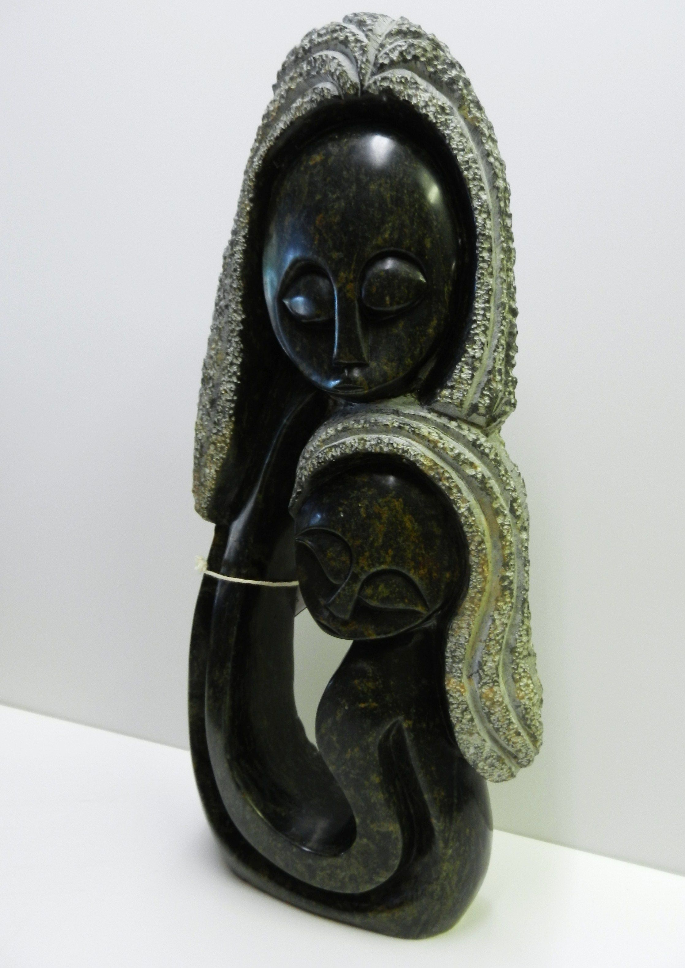 Couple Kissing Embracing Abstract Figurine Art Sculpture Carving Vintage African Soapstone Embracing Couple Statue Soapstone Figure