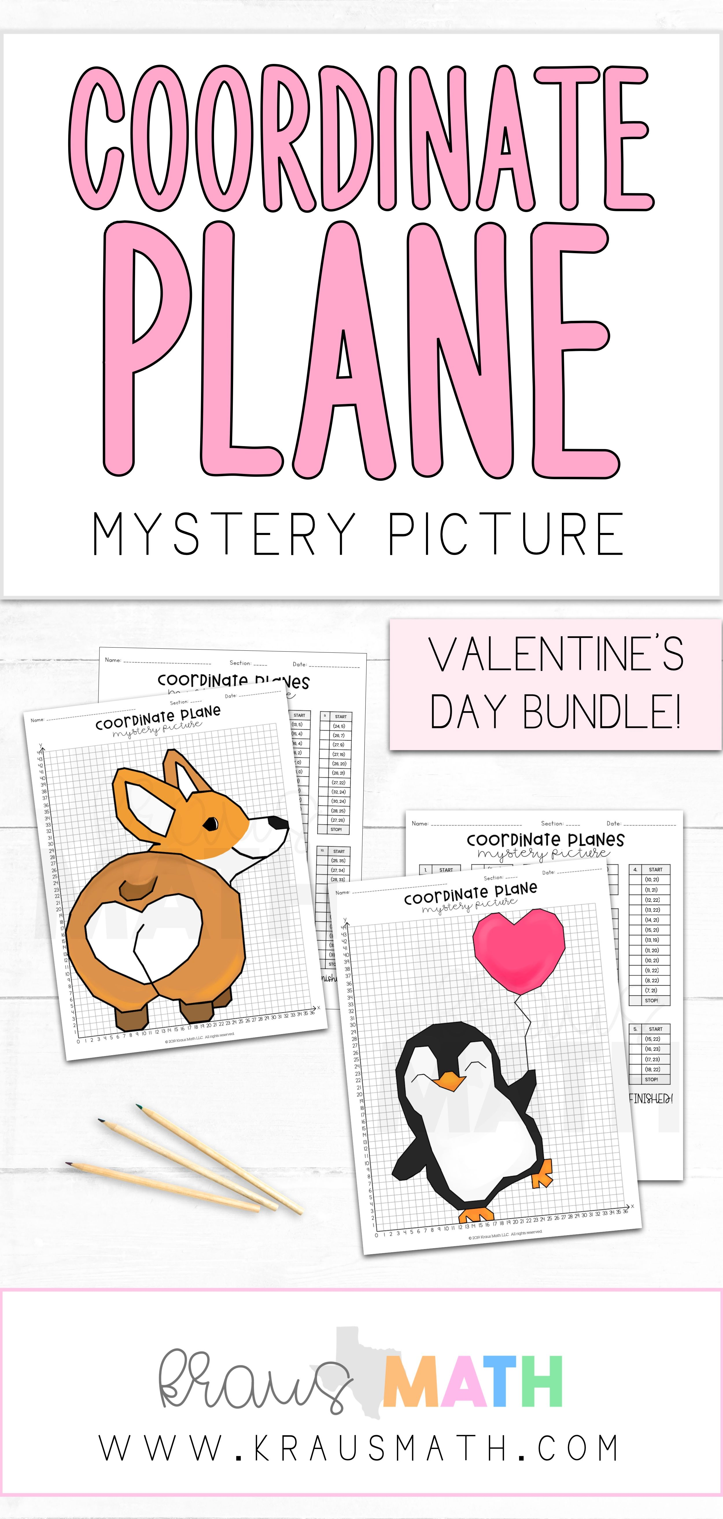 Valentine S Day Coordinate Plane Activity Bundle 1st