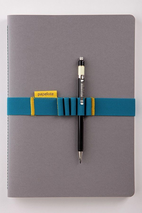 papelote elastic notebook strap      a4   grey