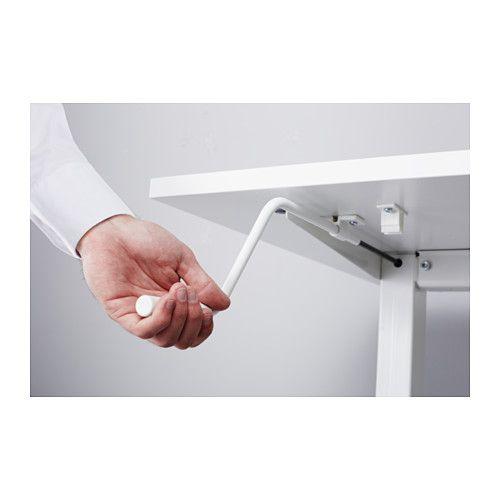 Skarsta escritorio sentado de pie ikea ideas para el - Mesa regulable en altura ikea ...