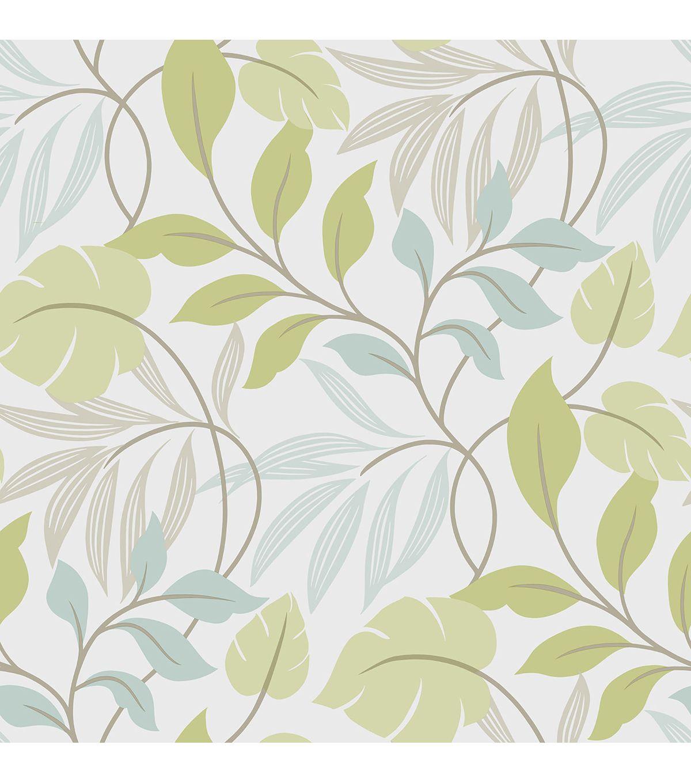 Wallpops Nuwallpaper Blue And Green Meadow Peel And Stick Wallpaper Peel And Stick Wallpaper Brewster Wallpaper Leaf Wallpaper