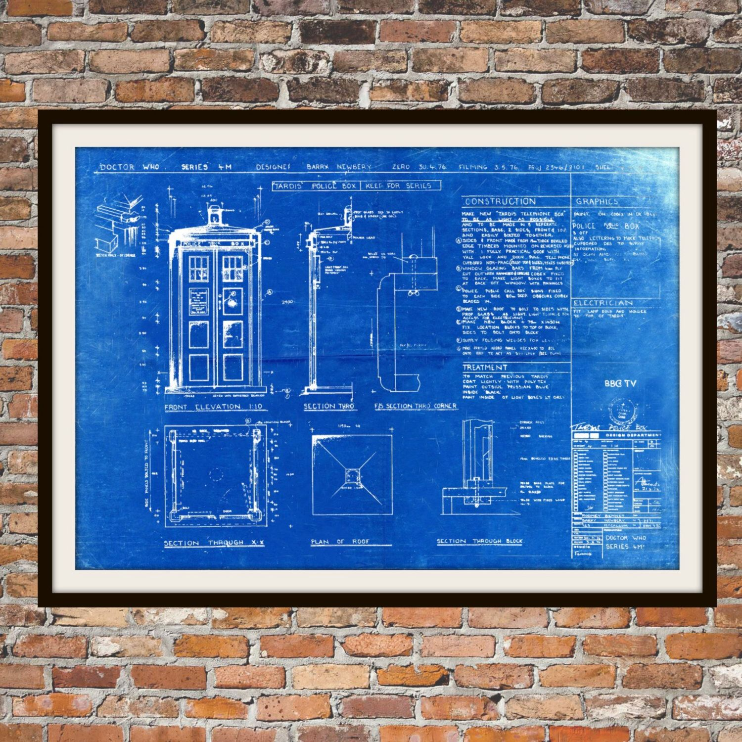 Tardis print poster dr who blueprint the tardis blueprint art of tardis print poster dr who blueprint the tardis blueprint art of the tardis whovian gift police box print art item 0101 malvernweather Images