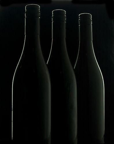 Three black bottles by david.kittos, via Flickr
