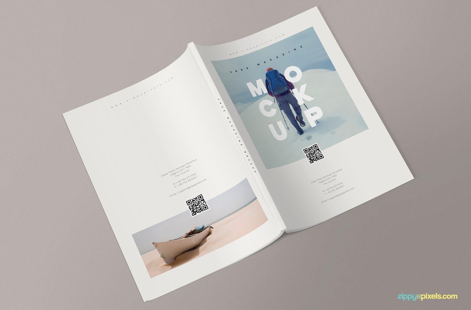 3 Free Magazine Mockup Templates Book Design Layout Mockup