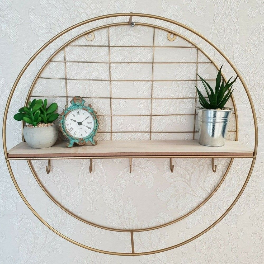 Contemporary gold style round wall unit ideal addition for