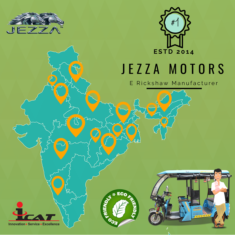 E rickshaw from Jezza Motors now available in all over