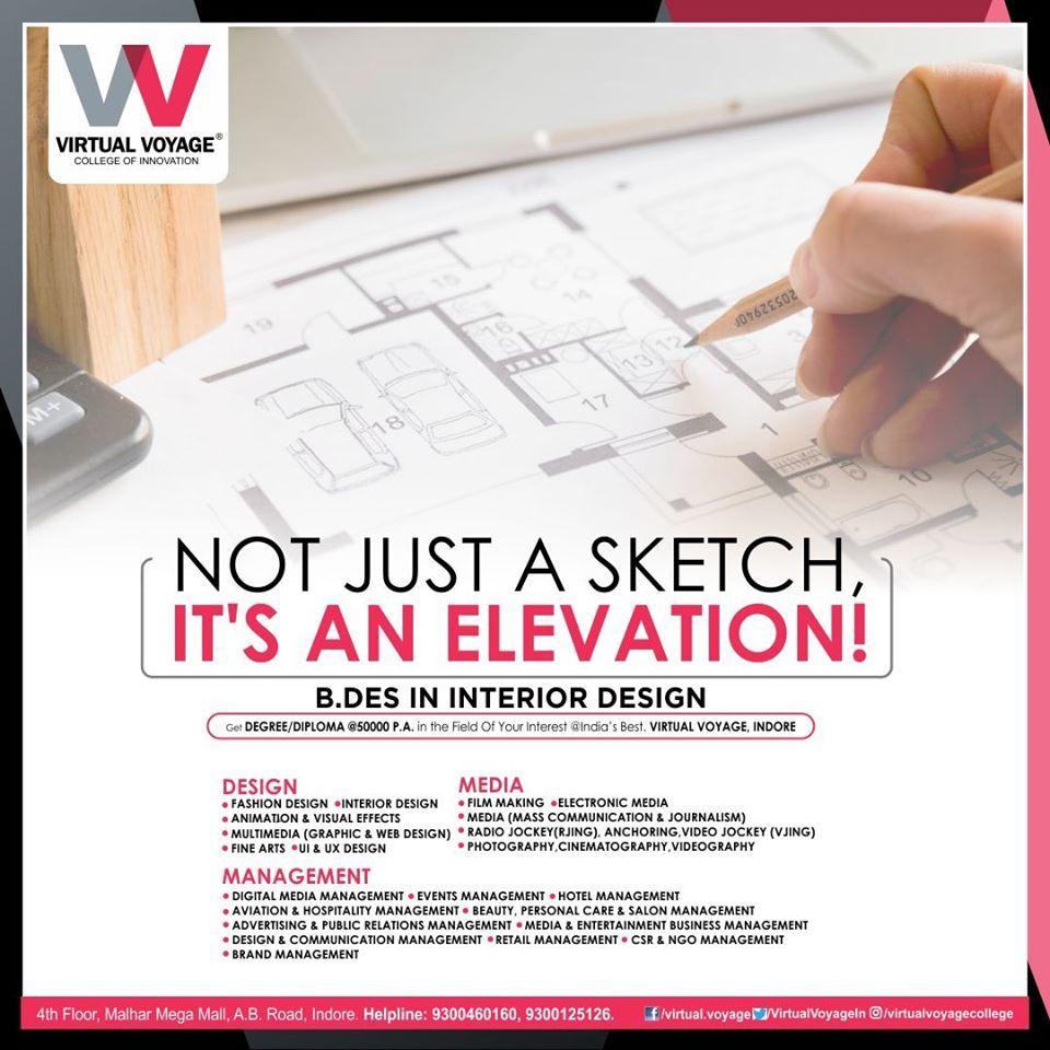 B Des In Interior Design From Virtual Voyage College Web Design Course College Design Interior Design Degree