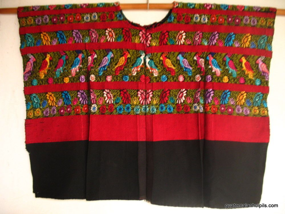 Details about Authentic Handmade Mayan Guatemalan Embroidered Huipil